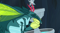 Ocellus struggling to carry the fountain S9E3