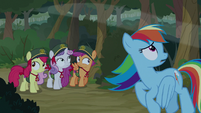 Rainbow and Crusaders hear Celestia S9E13