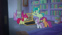 Sandbar and CMC at back of the library S8E25