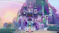 School of Friendship exterior at morning S8E26