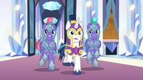 "Shining Armor ""Sombra's breached the castle!"" S9E1"