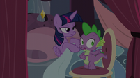 Spike explains to Twilight S5E10
