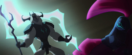 Storm King laughing at Tempest Shadow MLPTM