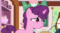 Sugar Belle thinking fondly of Big Mac S9E23