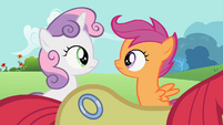 Sweetie Belle, Scootaloo and Apple Bloom's new cutie mark S2E6