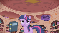 Twilight frantically looking for information S1E02