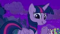 "Twilight gives a nonchalant ""eh"" S8E21"