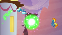 Wonderbolts disoriented by the fireworks S9E26