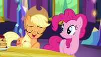"Applejack ""cozier than hot cider on a rainy day"" S5E3"