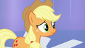 Applejack listening to Twilight S6E1.png