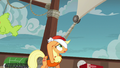 Applejack partially lifts her blindfold S6E22.png