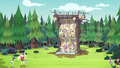 Celestia and campers at the rock climbing wall EG4.png
