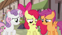 Cutie Mark Crusaders feeling terrible S7E8