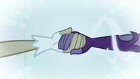 Daydream Shimmer taking Midnight Sparkle's hand EGFF