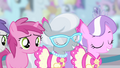 Diamond Tiara and Silver Spoon in cheerleader outfits S4E05.png