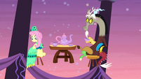 Discord and Fluttershy look at main five S5E7