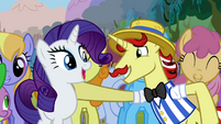 Flam and Rarity ecstatic S2E15