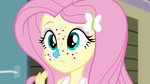 Fluttershy covered in frosting and glitter EG2