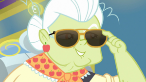 Granny Smith lowering her sunglasses EGDS12