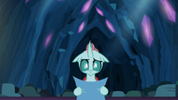 Ocellus looking puzzled at the structure S9E3