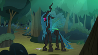 Queen Chrysalis cackling evilly S8E13