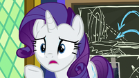 "Rarity ""it felt like I rushed"" S9E4"