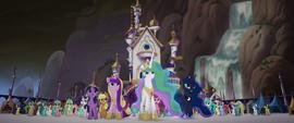 The four princesses face Tempest Shadow MLPTM