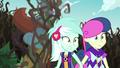 Totem pole falls toward Lyra and Sweetie Drops EG4.png