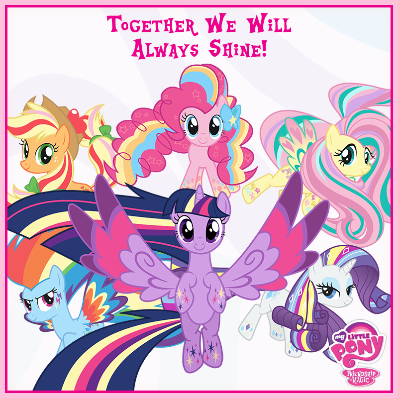 let the rainbow remind you my little pony friendship is