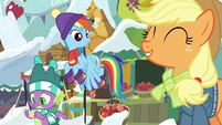 """Applejack """"next mornin' with our families!"""" MLPBGE"""