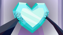 Crystal Heart dampened by Sombra's magic S9E1