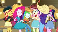 Equestria Girls square-dancing together EGDS25