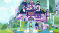 Exterior view of the School of Friendship S8E7