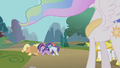 Main five bow to Celestia S1E10.png