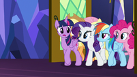 Mane Six entering the throne room S8E24