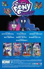 Nightmare Knights issue 1 credits page