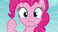 Pinkie trying to warn Cherry of the incoming ravine S5E11