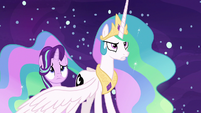 Princess Celestia stands up to Daybreaker S7E10