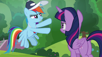 "Rainbow Dash ""not cheering for it"" S9E15"