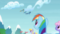 Rainbow seeing the Wonderbolts flying S4E10.png