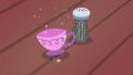 Salt shaker turns into a teacup S7E2.png