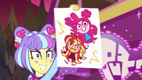 Su-Z draws caricatures of Pinkie and Sunset EGSBP