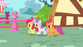 The Cutie Mark Crusaders running S01E17.png
