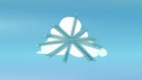 The Wonderbolts spiraling around a cloud S7E7