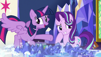 Twilight Sparkle giving credit to Starlight S7E25