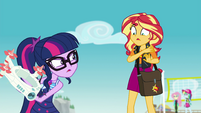 Twilight Sparkle refusing Sunset's help EGFF