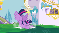 Twilight crashing into ground S4E1