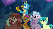 Young 5 watching Ocellus with approval S9E3