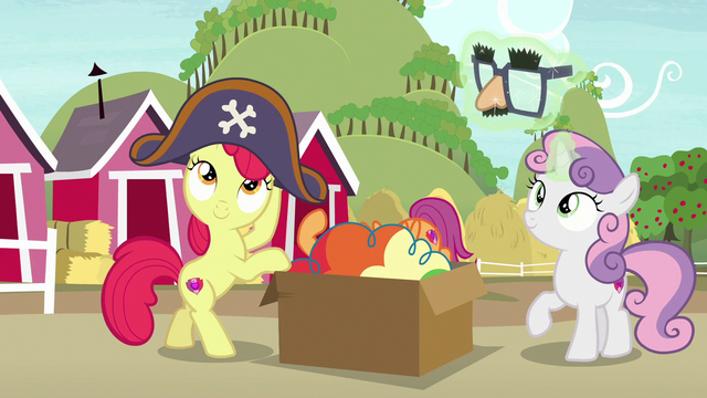 File:Apple Bloom and Sweetie Belle putting on costumes S7E8.png