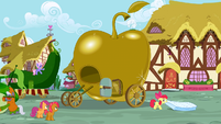 Apple Bloom dragging a mattress S3E04